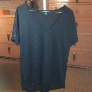 Tops - Ann Taylor suede sleeve top